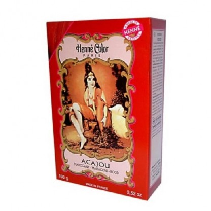 Henna acaju pulbere 100g Henne Color Paris