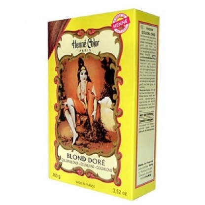 Henna blond auriu pulbere 100g Henne Color Paris