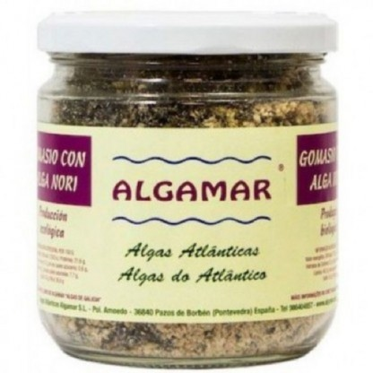 Gomasio cu alge marine BIO 130g Algamar