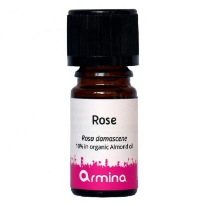 Ulei esential de trandafir (rosa damascena) 10% in ulei de migdale BIO 5ml Armina
