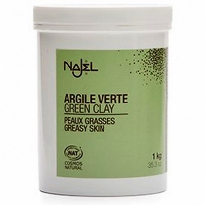 Argila verde fina pentru ten mixt sau gras Najel 1kg