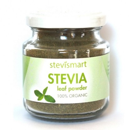 Stevia (stevie) pulbere raw bio 50g Dragon Superfoods