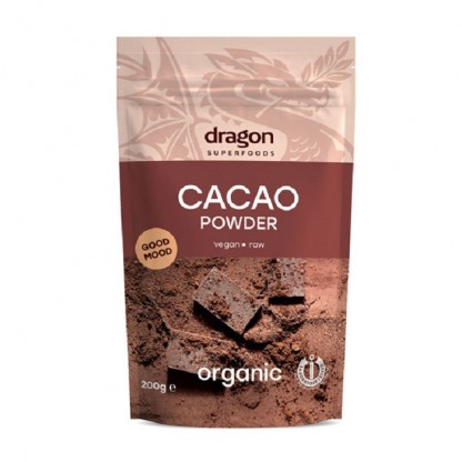 Cacao pulbere Criollo Raw Bio 200g Dragon Superfood