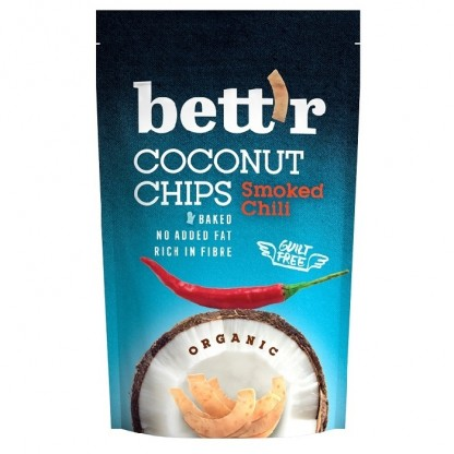 Chips de cocos cu chilli BIO 70g Bettr