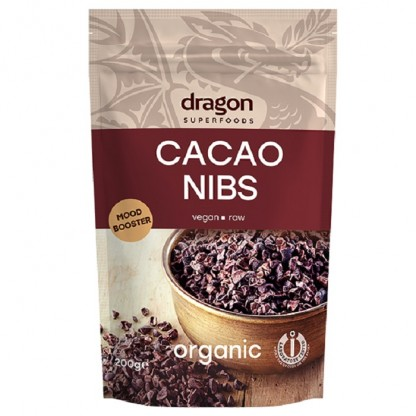 Miez din boabe de cacao Criollo BIO 200g Dragon Superfood