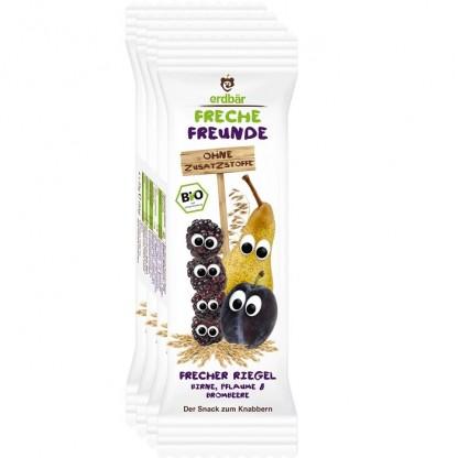 Baton de cereale cu pere, prune si mure BIO Erdbar 4x23g