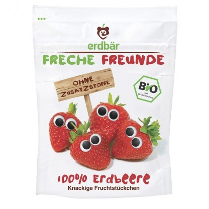Capsuni crocante BIO (freeze-drying) 12g Erdbar