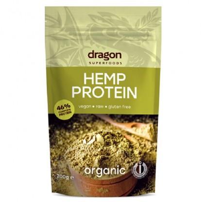 Pudra proteica din canepa Raw BIO 200g Dragon Superfood