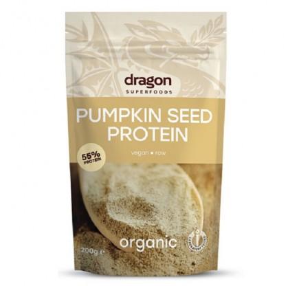 Pudra proteica din seminte de dovleac Raw BIO 200g Dragon Superfood
