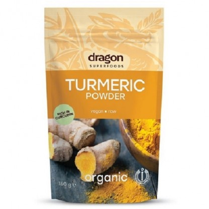 Turmeric (curcuma) BIO pudra 150g Dragon Superfoods