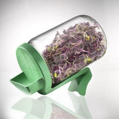 Germinator tip borcan cu protectie la scurgerea apei, BPA free Germline
