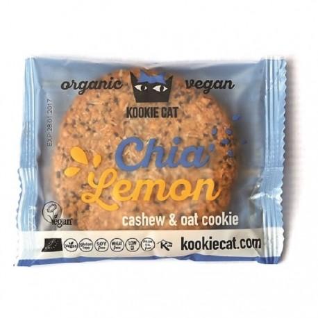 Cookie cu chia si lamaie fara gluten bio 50g Kookie Cat