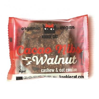 Cookie cu nuci si cacao fara gluten bio 50g Kookie Cat