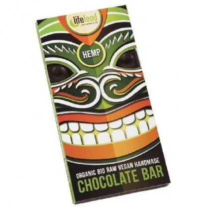 Ciocolata cu seminte de canepa Raw BIO 70g Lifefood