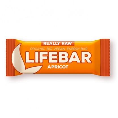 Lifebar baton cu caise Raw BIO 47g Lifefood