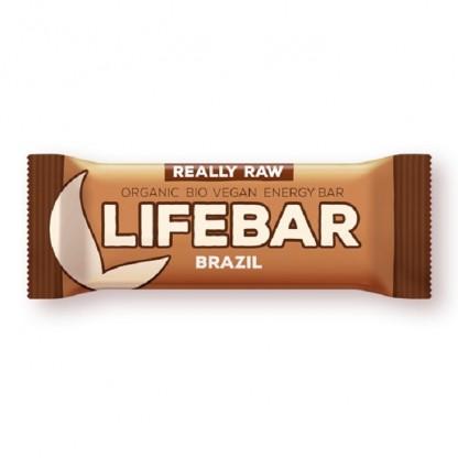 Lifebar baton cu nuci braziliene raw bio 47g Lifefood