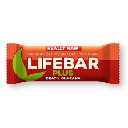 Lifebar Plus baton cu nuci braziliene si guarana raw bio 47g Lifefood