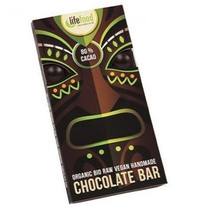 Ciocolata cu 80% cacao Raw BIO 70g Lifefood