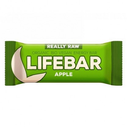Lifebar baton cu mere raw bio 47g Lifefood