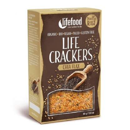Lifecrackers cu chia si in raw bio 80g Lifefood