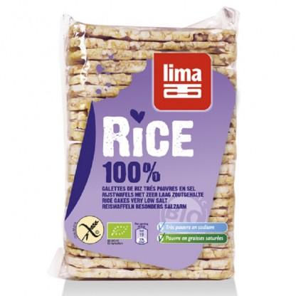 Rondele de orez expandat rectangulare fara sare, fara gluten 130g Lima