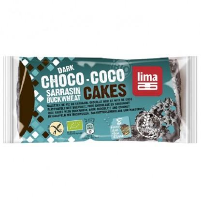 Rondele din hrisca expandata cu ciocolata neagra si cocos BIO Lima 90g