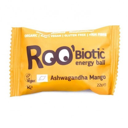 ROObiotic energy ball ashwaganda si mango bio 22g Dragon Superfoods