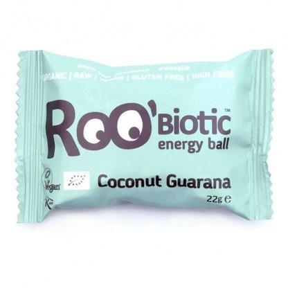 ROObiotic energy ball cu cocos si guarana bio 22g Dragon Superfoods