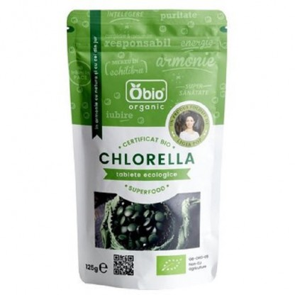 Chlorella organica tablete 125g Obio