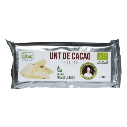 Unt de cacao Raw BIO varietate Criollo Ecuador 250g Obio
