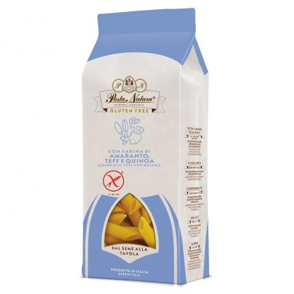 Penne din amarant, teff si quinoa BIO fara gluten 250g Pasta Natura