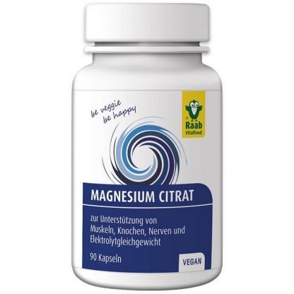 Citrat de magneziu 90 capsule naturale vegane 600mg Raab Vitalfood