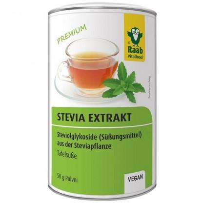 Stevia pulbere extract solubil premium 50g (echivalent cu 10kg zahar) Raab Vitalfood