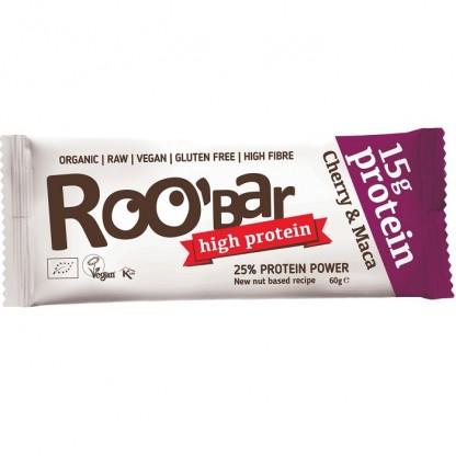 Baton proteic cu cirese si maca Raw BIO Roobar 60g
