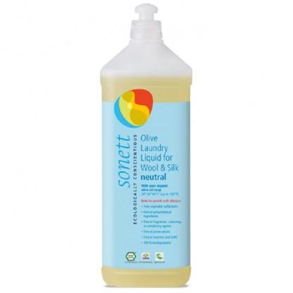 Detergent BIO lichid pt. lana si matase, fara parfum Neutru 1L Sonett