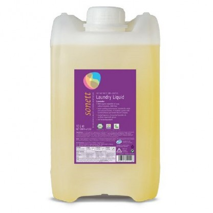 Detergent ecologic lichid pt. rufe albe si colorate cu lavanda 10L Sonett