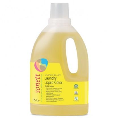 Detergent ecologic lichid pt. rufe colorate cu lamaie si menta 1,5L Sonett