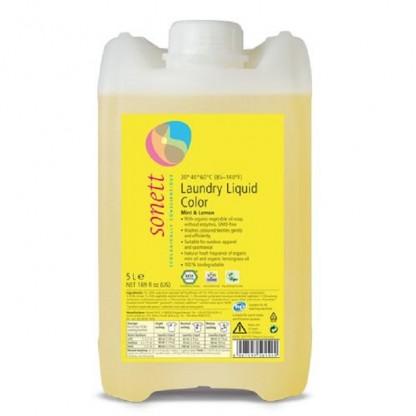 Detergent BIO lichid pt rufe colorate cu lamaie si menta 5L Sonett