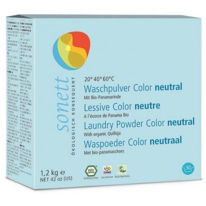 Detergent ecologic praf pt. rufe colorate Neutru 1.2 kg Sonett