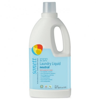 Detergent BIO fara parfum Neutru pt rufe albe si colorate 2 L Sonett