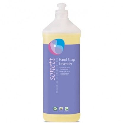 Sapun lichid - gel de dus ecologic Lavanda 1L Sonett