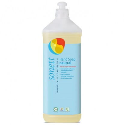 Sapun lichid - gel de dus ecologic Sensitive 1L Sonett