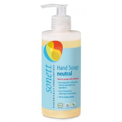 Sapun lichid - gel de dus ecologic Sensitive 300ml Sonett