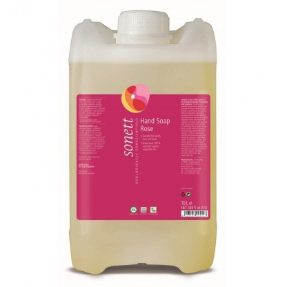 Sapun lichid - gel de dus ecologic trandafiri 10L Sonett