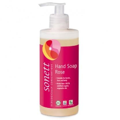 Sapun lichid - gel de dus ecologic trandafiri 300ml Sonett