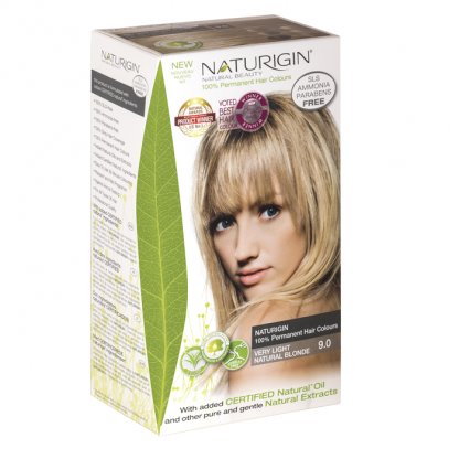 Vopsea naturala de par 9.0 Blond Natural Deschis Naturigin 115ml