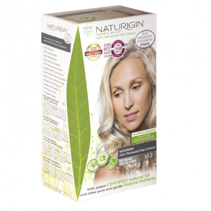 Vopsea naturala de par 11.2 Blond Cenusiu Extreme Naturigin 115ml