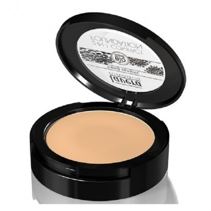 Fond de ten compact si pudra 2-in-1 Honey 03 Lavera 10g