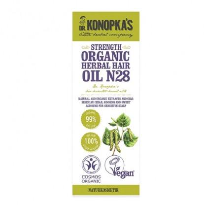 Ulei organic No 28 tratament pentru intarirea firului de par 30ml Dr Konopka