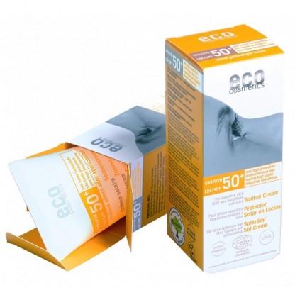Crema BIO protectie solara inalta FPS 50+ nuantata Eco Cosmetics 75ml